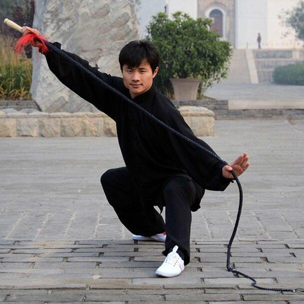 Livraison Gratuite Le Plus Récent Populaire 3 m Vache Fouet En Cuir Arts Martiaux Kung Fu Fouet Fouet