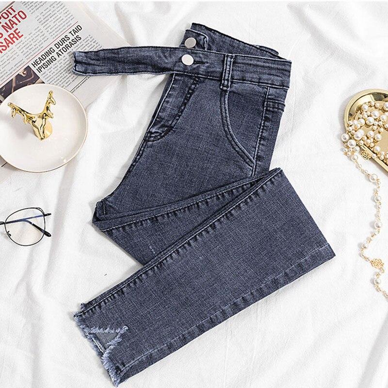 100% Wahr Jujuland 2018 Weiblichen Jeans Denim Hosen Schwarz Farbe Frauen Jeans Donna Stretch Böden Dünne Hosen Für Frauen Hosen 8207