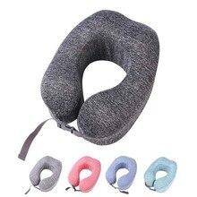 U-образная подушка для поддержки шеи с эффектом памяти, подушка для путешествий, самолет, подголовник для сна, офисные подушки для отдыха