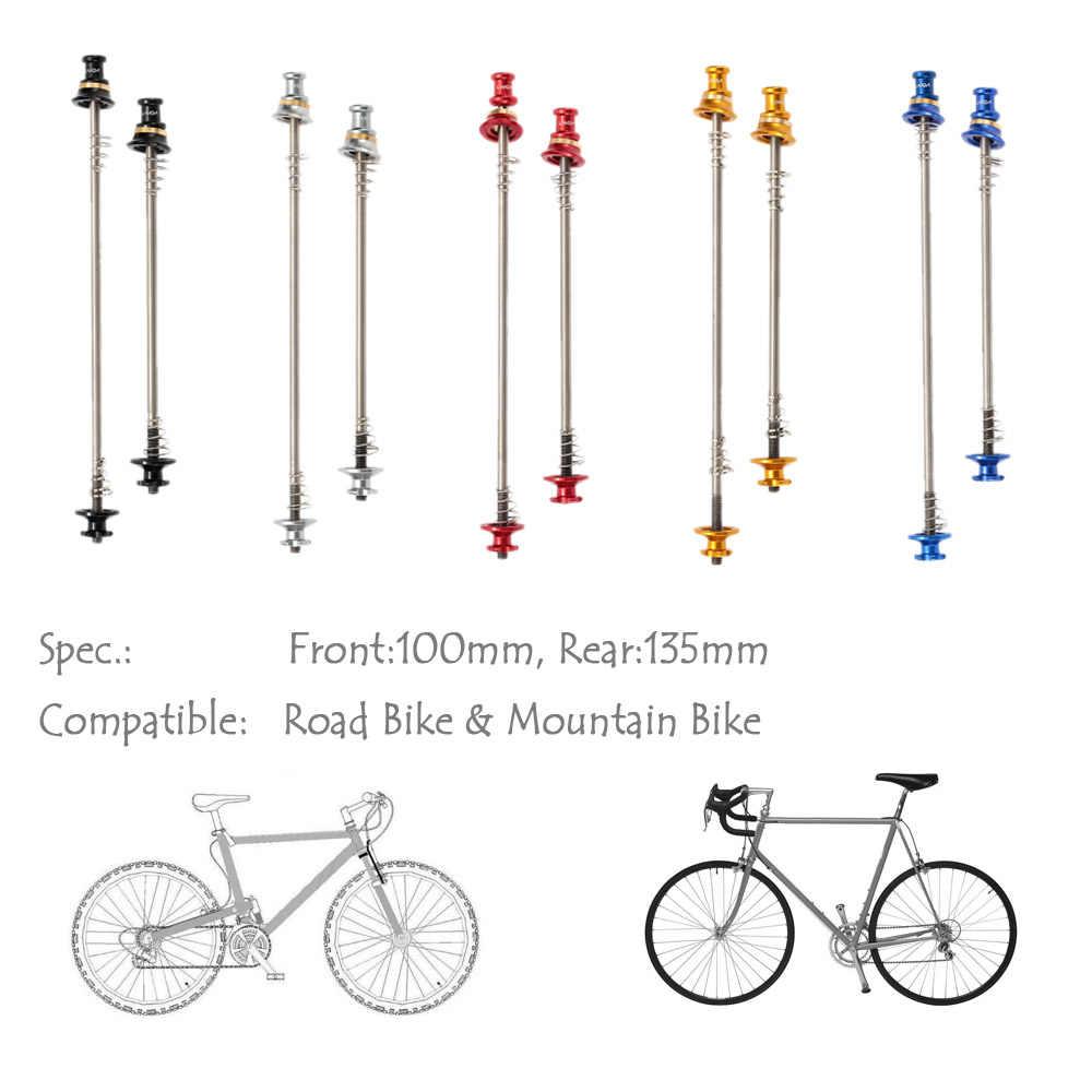 2pcs Bicycle Skewers UltraLight Titanium Quick Release For MTB Road Bike Skewer