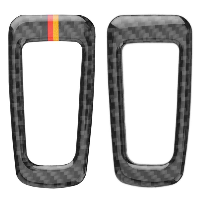 VODOOL Carbon Fiber P Button Electronic Hand Brake Button Cover Trim Frame Sticker for Mercedes C Class <font><b>W205</b></font> C180 C200 <font><b>C300</b></font> GLC image