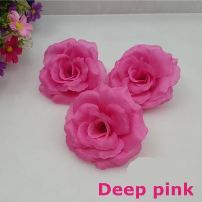 10pcslot 8cm deep pink color artificial rose silk flower heads diy 10pcslot 8cm deep pink color artificial rose silk flower heads diy wedding home decoration festive party supplies can mix color in artificial dried mightylinksfo