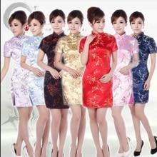 Дешевые cheongsam черное Восточное Шанхай Тан платье традиционная китайская одежда узоры современный Ципао платье красный cheongsam шелк