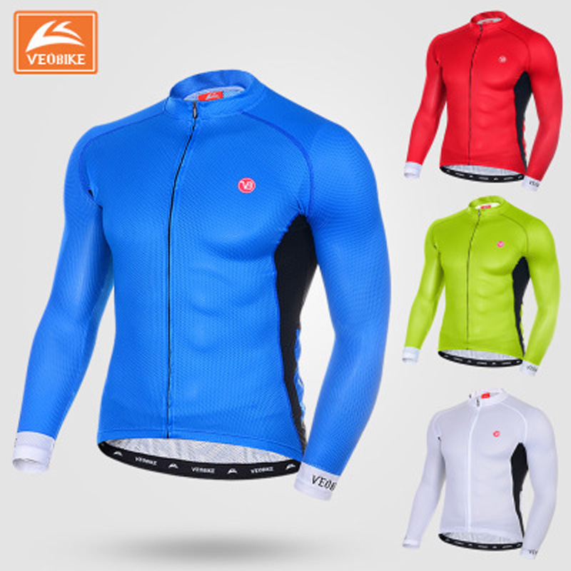 цены VEOBIKE 2017 Cycling Jersey Long Sleeve Tops Shirts Bike Ropa Ciclismo MTB Bicycle Jerseys Outdoor Sports Wear Clothing
