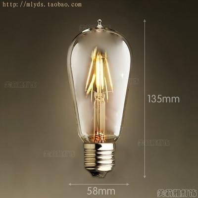 4 Вт E27 220 В светодиодный светильник для декора, лампада Эдисона, винтажный декоративный светильник с ампулами T10 G80 G95 ST64 T225 T30 - Цвет: Темный хаки