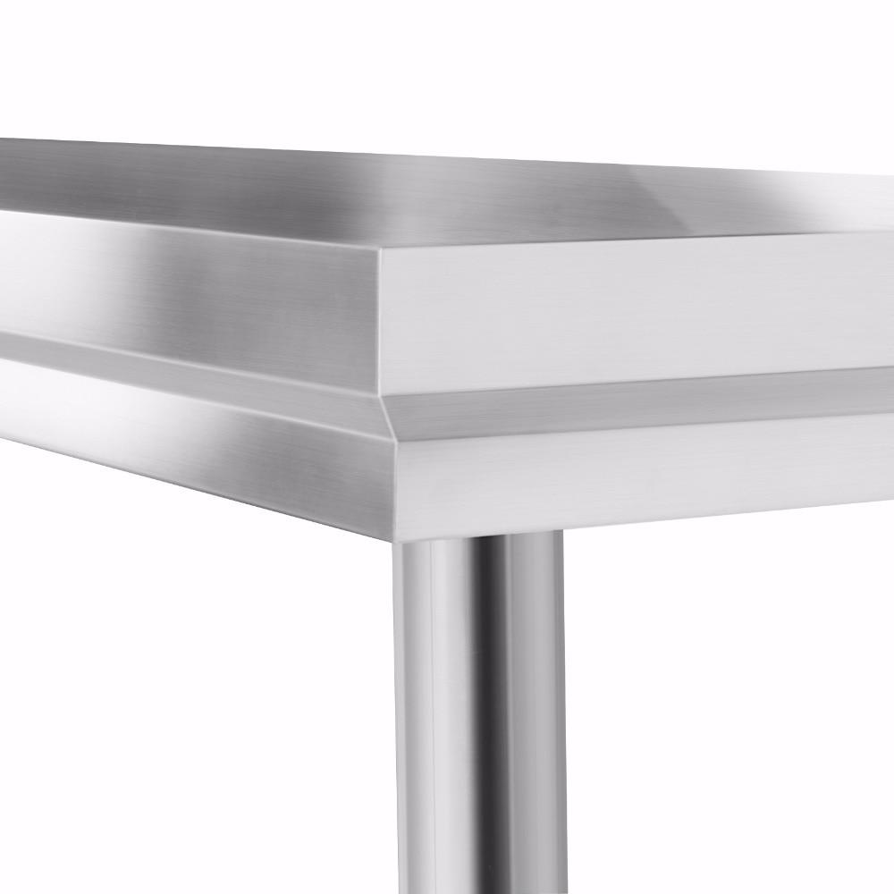 Cocina comercial de acero inoxidable mesa de preparación de ...