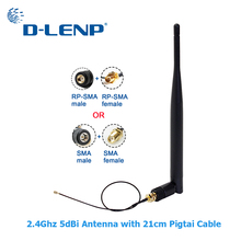 WIFI Antenna Pigtail-Cable Sma Male Connector RP-SMA IPX 5dbi PCI U.FL Aerial 20cm