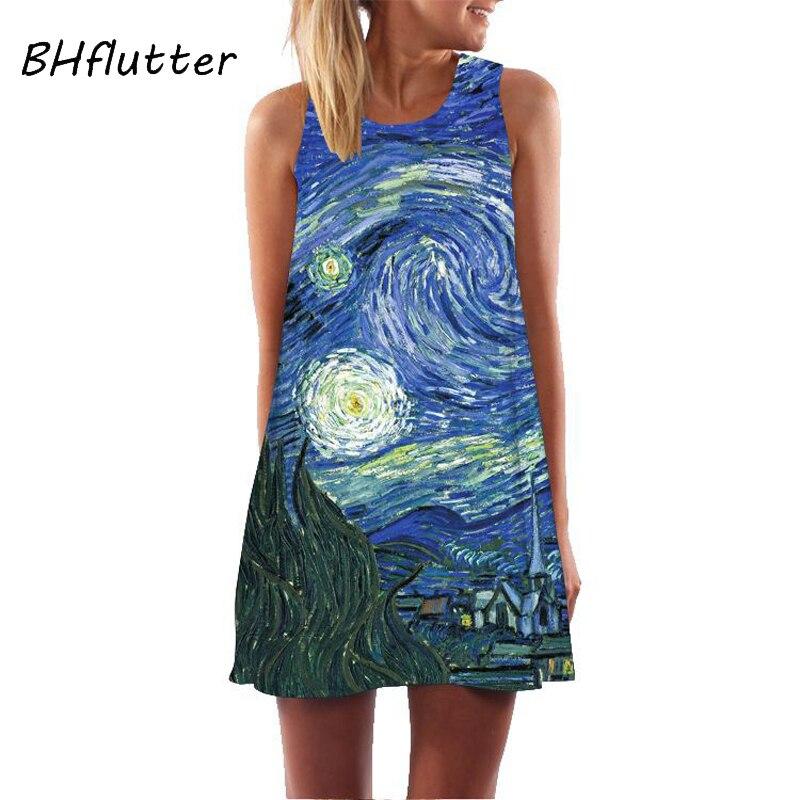 Women Floral  Sundress Casual Dress Print Chiffon Dress Sleeveless  4
