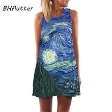 Printed Sleeveless Dress Boho Style