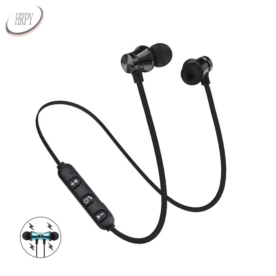 Wireless Bluetooth Earphones Sport In Ear Headsets Magnetic Stereo Headphones With Microphone For PC Mobile Android Phone цена и фото