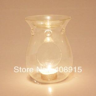 Clear Glass Aroma Burner Oil Burner Incense Burner