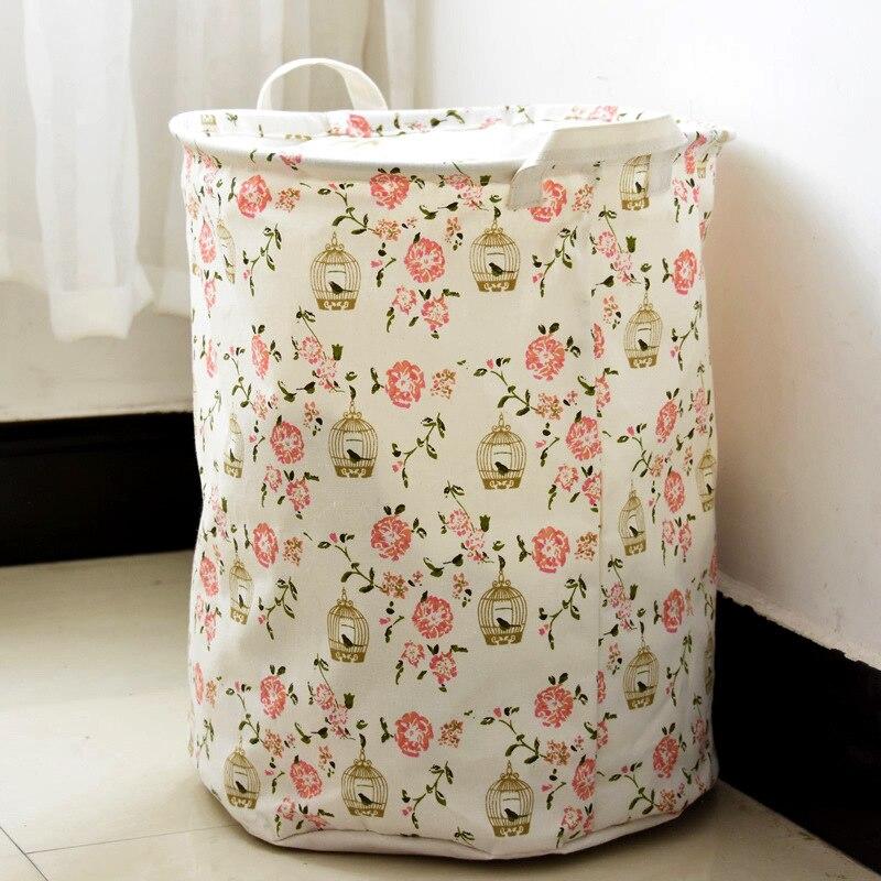 The garden Home Furnishing storage cotton laundry instoragebarrels folding laundry baskets with waterproof cover & Portable Folding Laundry Basket Laundry Bag Laundry Hamper Basket ...