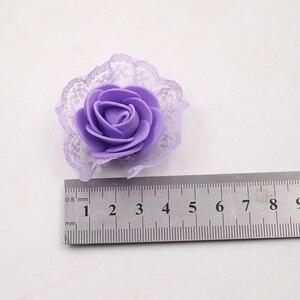 Image 5 - 20ピース造花pe発泡レースローズため結婚式の装飾diyスクラップブッキング手作りクラフトアクセサリー花輪花