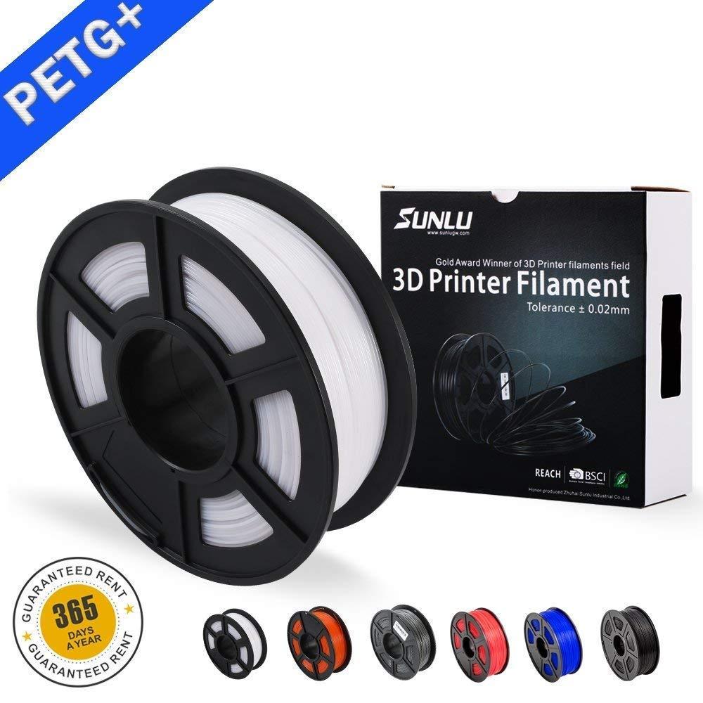 SUNLU PETG 3D filament 1.75mm 1KG(2.2lb) PETG 3D Printer Filament Dimensional Accuracy +/  0.02 mm 1 kg Spool 1.75 mm-in 3D Printing Materials from Computer & Office    1