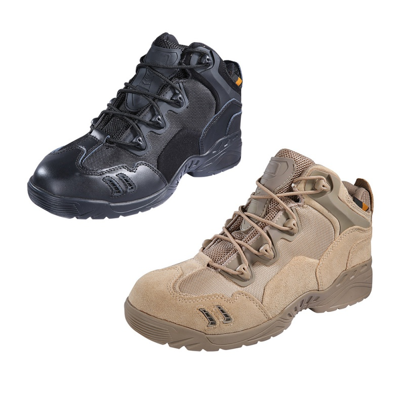 Outdoor Hiking Camping Men Army Tactical Comfort Leather Combat Military Ankle Boots  Desert Shoes Hiking Shoes