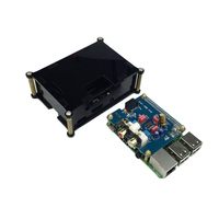 Raspberry pi Audio Sound Card Module I2S interface HIFI DAC expansion board+Black Acrylic case for Raspberry pi 2/ B+