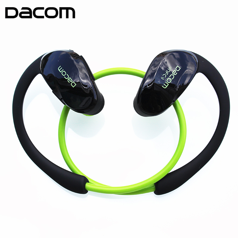 DACOM Athlete G05 Bluetooth Headset Wireless Sport Headphones Stereo Music Earphones Fone De Ouvido With Microphone & NFC showkoo stereo headset bluetooth wireless headphones with microphone fone de ouvido sport earphone for women girls auriculares