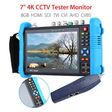 SEESII 7 4K CCTV IP Tester Monitor 8GB SDI TVI CVI AHD CVBS Security Camera Multimeter PTZ POE Test WIFI HDMI Video Onvif INPUT