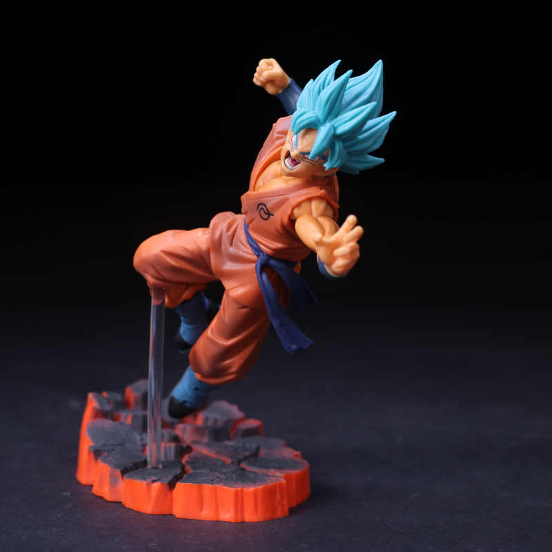 Anime dragon ball super saiyan goku pvc figura de ação collectible modelo boneca brinquedo 15cm