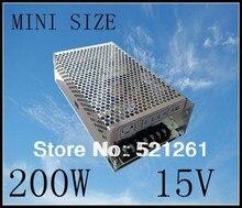 Fuente de alimentación 15 v 200 w 15 V 13.3A DIANQI suply potencia 200 w 15 v fuente de alimentación mini led convertidor dc ac ms-200-15