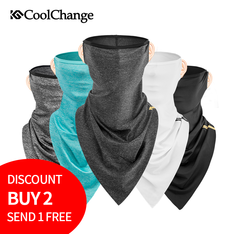 2018 CoolChange Cycling Bandana Outdoor Sports Windproof UV Protect Bike Headwear Ride Neck Mask Scarves Bicycle Headband Scarf