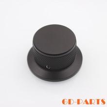 44*25mm potentiomètre rotatif bouton pour lecteur CD platine haut-parleur amplificateur contrôle du volume, noir machine solide en aluminium lot * 1