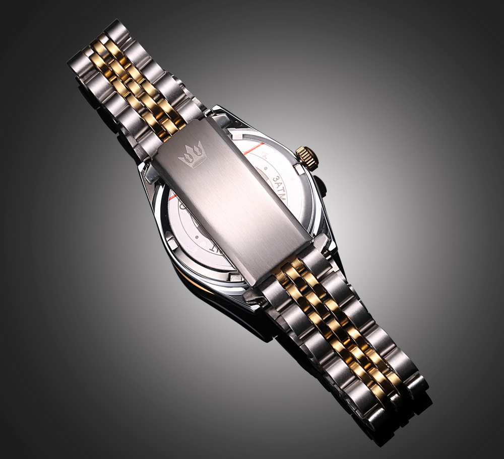 gold bling steel black stainless itm watch crystal watches luxury tone wrist quartz women