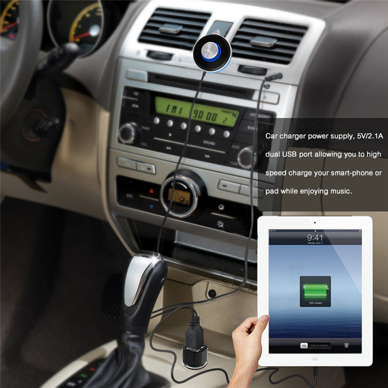 Kextech Car Bluetooth Music Receiver With Hands Free Function: Wireless Bluetooth Audio Musice Receiver Adapter Support