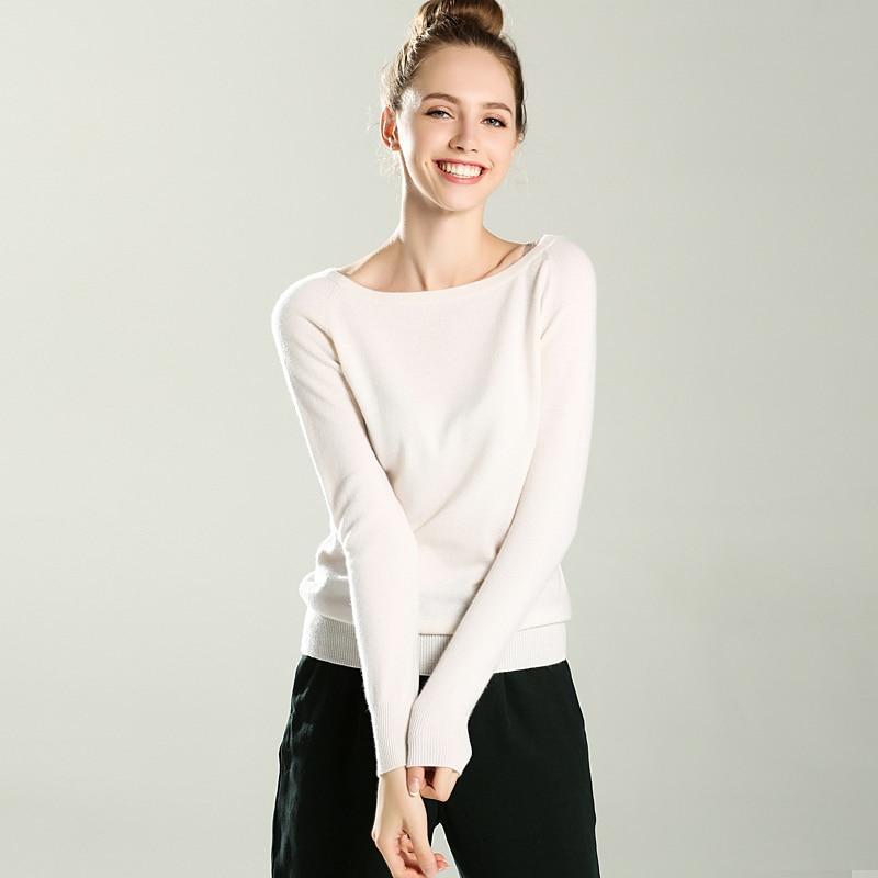 Adohon 2018 женские зимние кашемировые свитера и auntmun женские трикотажные пуловеры высокое качество теплые женские Slash шеи Повседневное