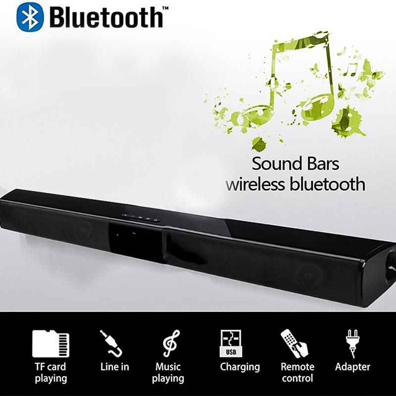Friendly Fashion Wireless Bluetooth Soundbar Stereo Speaker Tv Home Theater Tf Usb Sound Bar Black