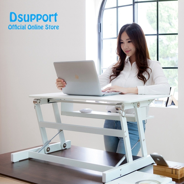 EasyUp Height Adjustable Sit Stand Desk Riser Foldable Laptop Desk Stand With Keyboard Tray Notebook/Monitor Holder Stand