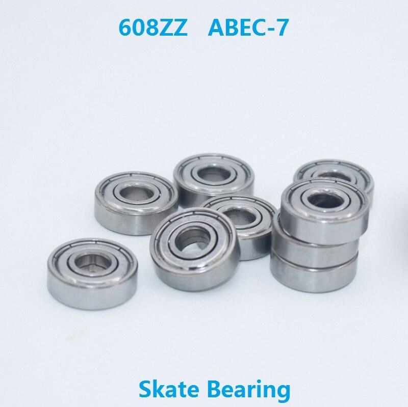 1000pcs lot 608ZZ 608Z bearing 608 ZZ ABEC 7 8 22 7mm gliding skates drift board