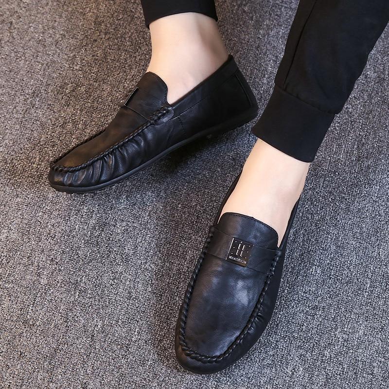 mens soft driving shoes Genuine pu