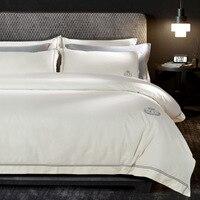 Jogo de cama egito de algodão simples  conjunto com fronha  edredon e capa de edredon  fronhas  queen  king size 4 peças de pçs