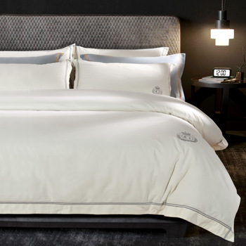 Luxury Egypt Cotton Sanding Simple Hotel Style Bedding Set Warm Duvet Cover Set Bed Sheet Pillowcases Queen King Size 4Pcs