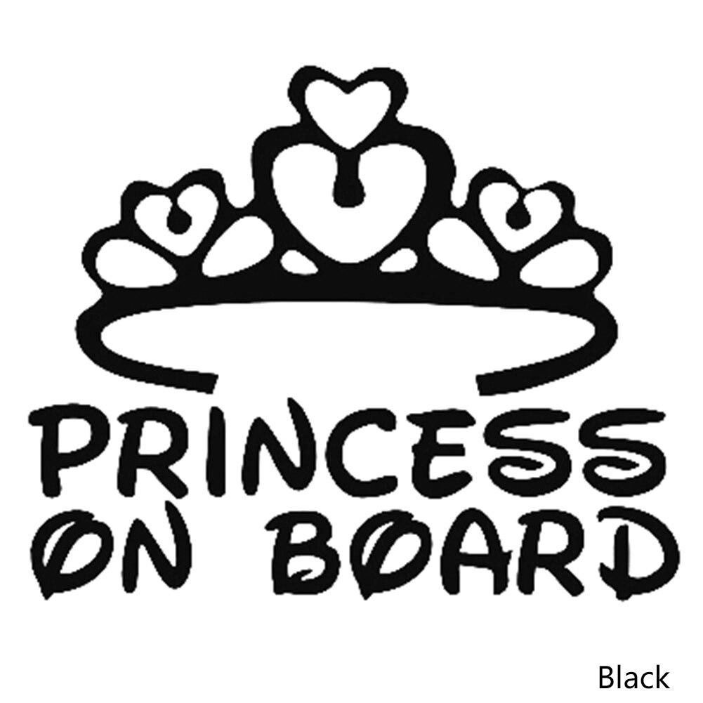 2018 PRINCESS ON BOARD BABY Cartoon Fashion Vinyl Car