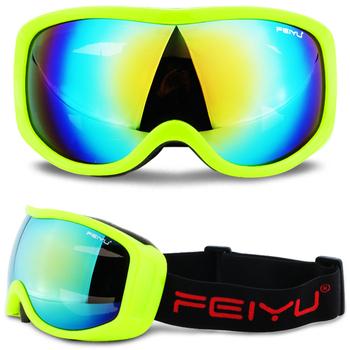 Single Lens UV400 Anti-fog gogle narciarskie mężczyźni kobiety śnieg gogle narciarskie i do snowboardu snowboard maska okulary narciarskie akcesoria tanie i dobre opinie UV Protection Mirror Coating MULTI 7 5cm Poliwęglan 23cm SG-21 Skiing