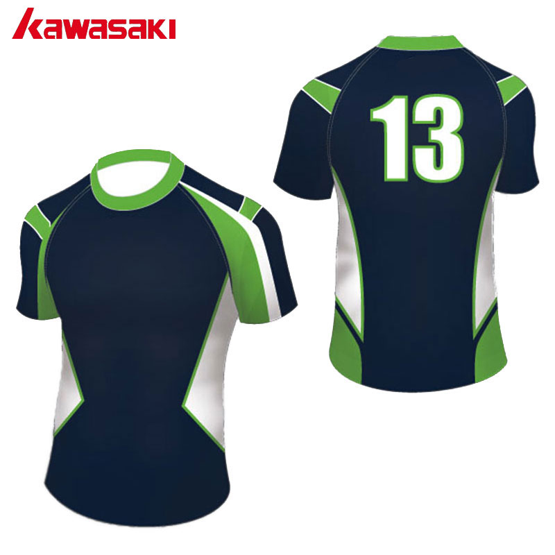 Kawasaki professionnel personnalisé hommes femmes Rugby t-shirts impression sport équipe tissu sublimé respirant Rugby maillot