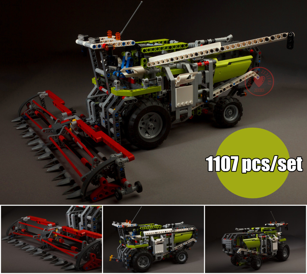 New Technic Series Combine Harvester fit legoings technic car city Building Blocks bricks 8274 Children Gift Set diy toys kid