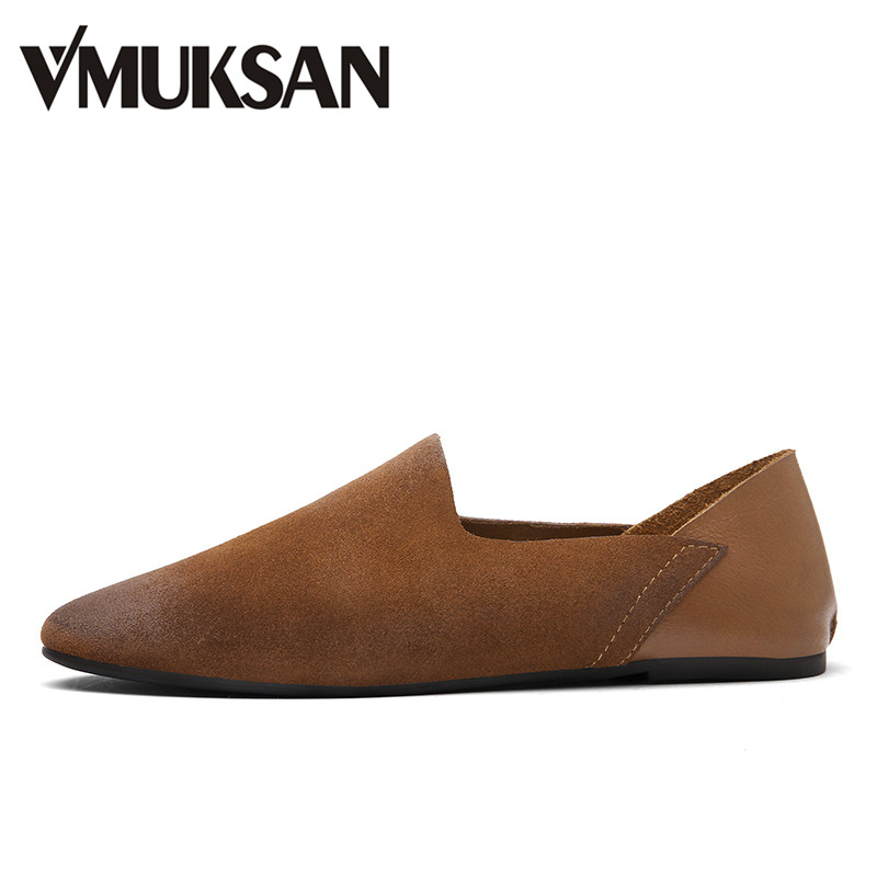 VMUKSAN Brand Men's Loafers Leather Classic Moccasins 2017 Men Leather Casual Shoes Slip On cbjsho brand men shoes 2017 new genuine leather moccasins comfortable men loafers luxury men s flats men casual shoes