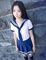 Japan Korean School Uniforms Student Uniforms Sets and Tie Lovely Girls Sailor Uniforms Female Students Performing Uniforms