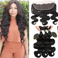 Malaysian Body Wave With Closure Free Part 13x4 Ear To Ear Lace Frontal Closure With Bundles Malaysian Virgin Hair With Closure