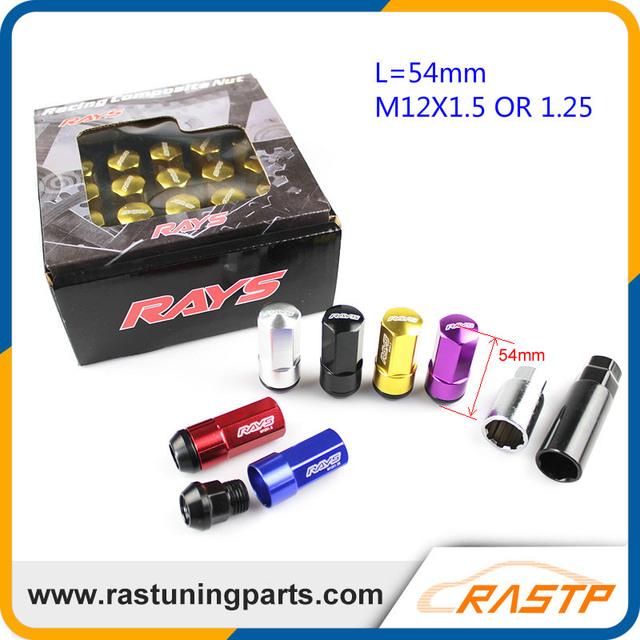 RASTP-Racing Wheel Lug Nut Tuerca Antirrobo Aleación De Aluminio de Bloqueo Compuesto Perno M12X1.5/1.25 LS-LN037