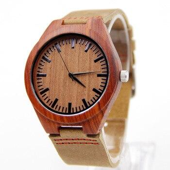 Zegarek drewniany Red Classic