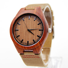 Red Wingceltis Brown Leather Watch Business Men's Not Mechanical Japen Machine Quartz Fashion And Casual Gift Bamboo Watches