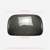Car Accessories Carbon Fiber OEM MDF Cover RHD Glossy Fibre Interior Dash Mount Racing Dial Trim For 2014 2018 WRX STI VAB VAF