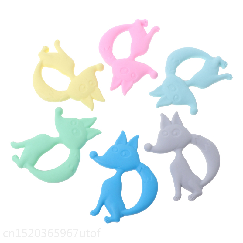 Baby Teether Silicone Fox Teething Toys Necklace Newborn Chewing Infant Nursing