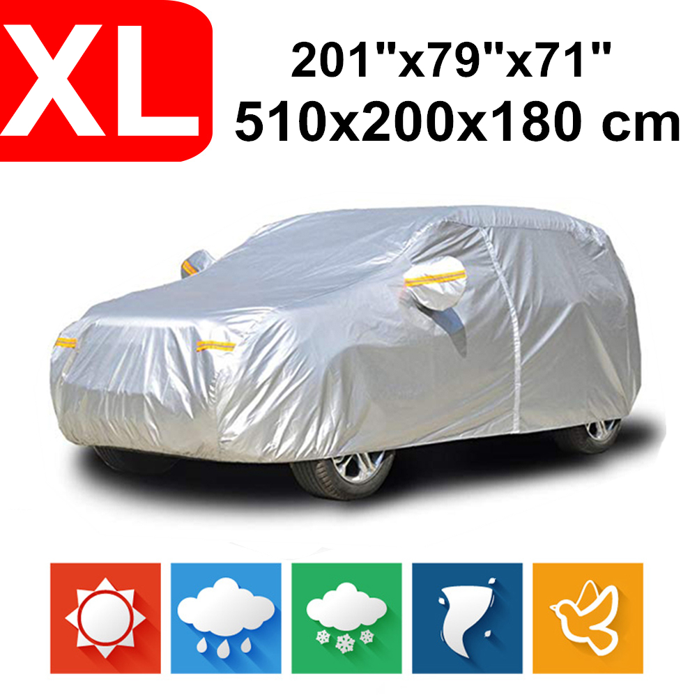 510x200x180 Universal SUV 190T Waterproof Car Covers Dust Rain Snow UV Protection For Toyota Land Cruiser