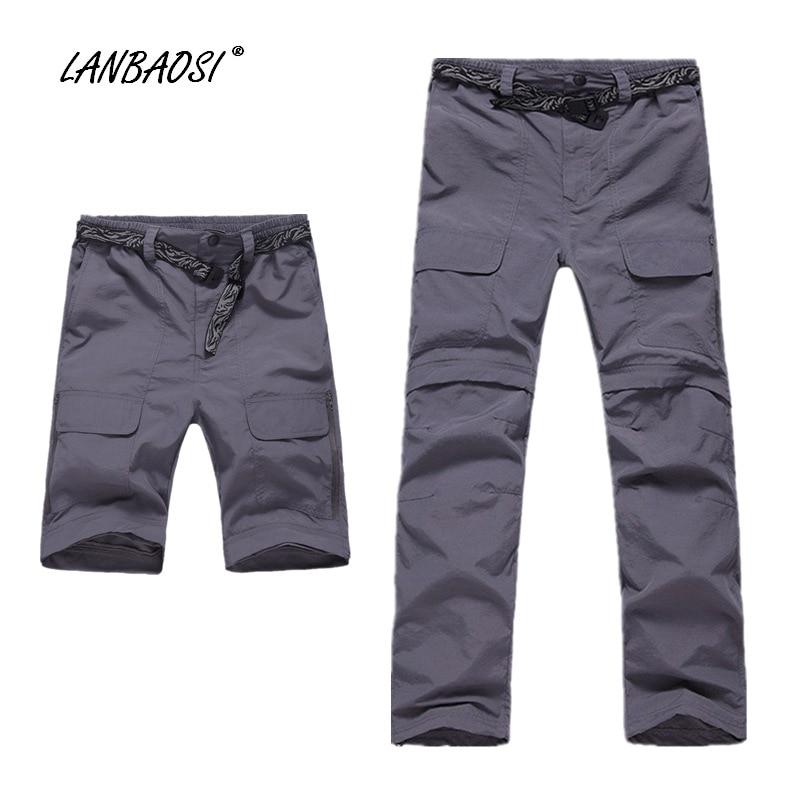Prix pour LANBAOSI Hommes de Léger À Séchage Rapide Pantalons Convertibles Étanche Armée Vert Kaki Randonnée Trekking Escalade Sports de Plein Air