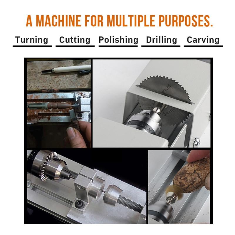 Mini Drehmaschine Perlen Maschine DIY Holzbearbeitung Mit Power Carving Cutter Polieren Perlen Holz Bohrer Dreh Werkzeug 12-24VDC